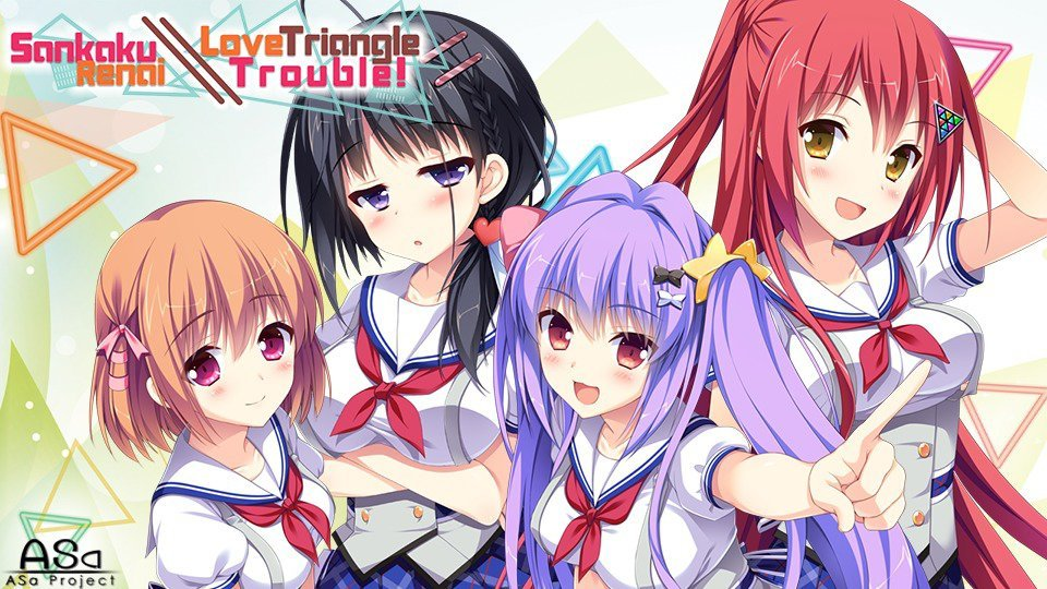 Sankaku Renai: Love Triangle Trouble Cover