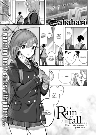 Rainfall... Cover