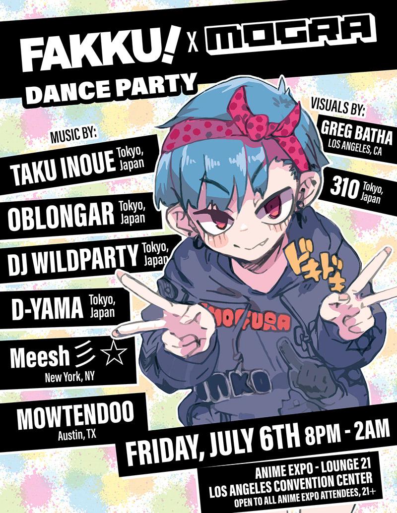 FAKKU x MOGRA Anime Expo 2018 Show Flyer